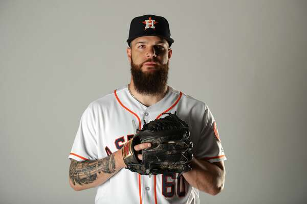 WEST PALM BEACH, FL - FEBRUARY 21:  Dallas Keuchel #60 of the Houston Astros poses for a portrait at The Ballpark of the Palm Beaches on February 21, 2018 in West Palm Beach, Florida.  (Photo by Streeter Lecka/Getty Images)