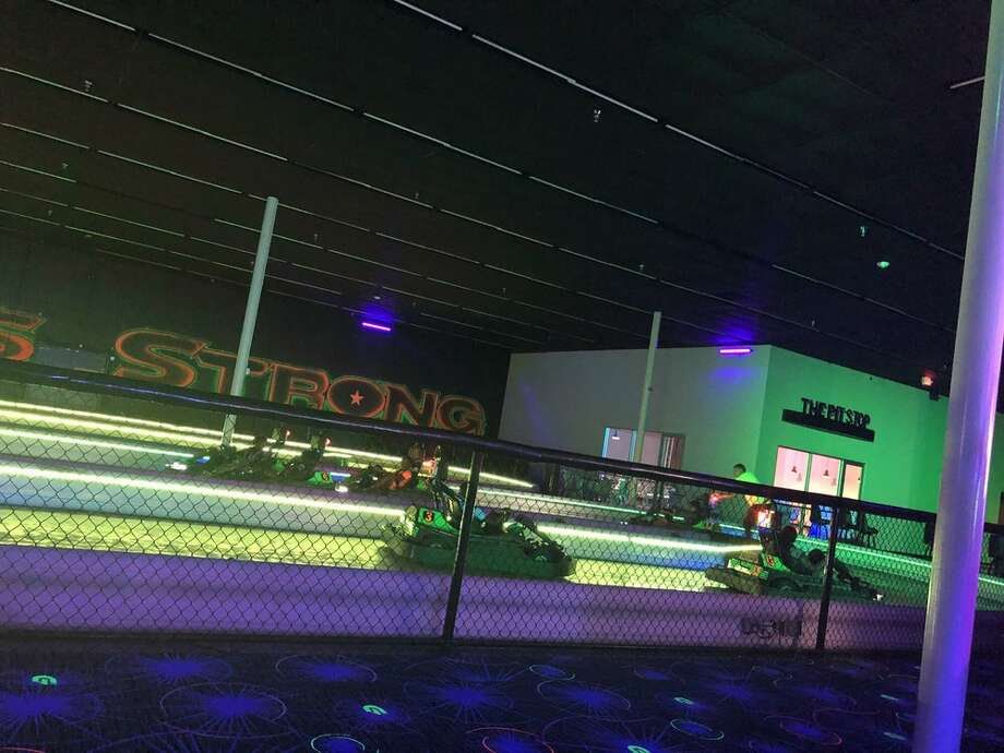 GlowZone, at 13150 Breton Ridge St. in Willowbrook, just opened and featured miniature golf, a climbing wall, and glow in the dark electric go-karts. Photo: East S./Yelp