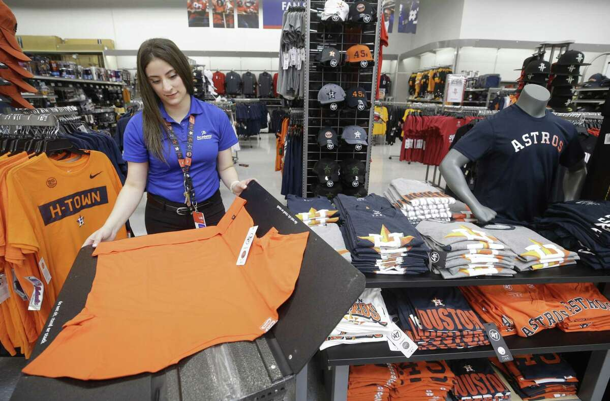 Lolli Rodriguez, manager, is shown at Academy Sports + Outdoors, 9734 Katy Fwy., Friday, June 1, 2018, in Houston. ( Melissa Phillip / Houston Chronicle )