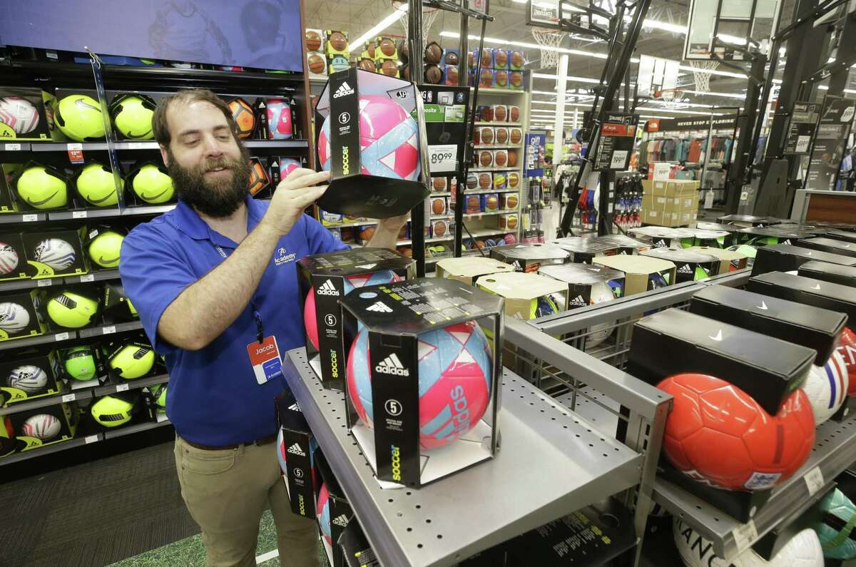 Jacob Betz, team lead, is shown at Academy Sports + Outdoors, 9734 Katy Fwy., Friday, June 1, 2018, in Houston. ( Melissa Phillip / Houston Chronicle )