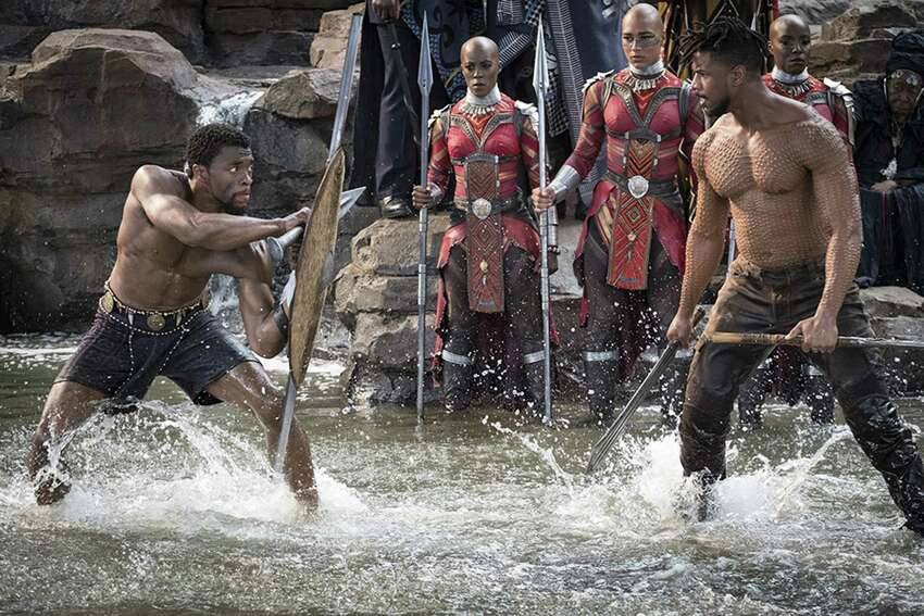 Black Panther (2018) One of the film's opening scenes is set in Oakland and features the song