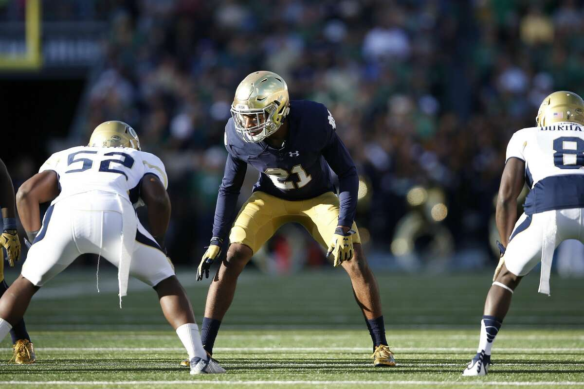 SOUTH BEND, IN - SEPTEMBER 19: Nick Watkins #21 of the Notre Dame Fighting Irish in action against the Georgia Tech Yellow Jackets during the game at Notre Dame Stadium on September 19, 2015 in South Bend, Indiana. Notre Dame defeated Georgia Tech 30-22. (Photo by Joe Robbins/Getty Images)