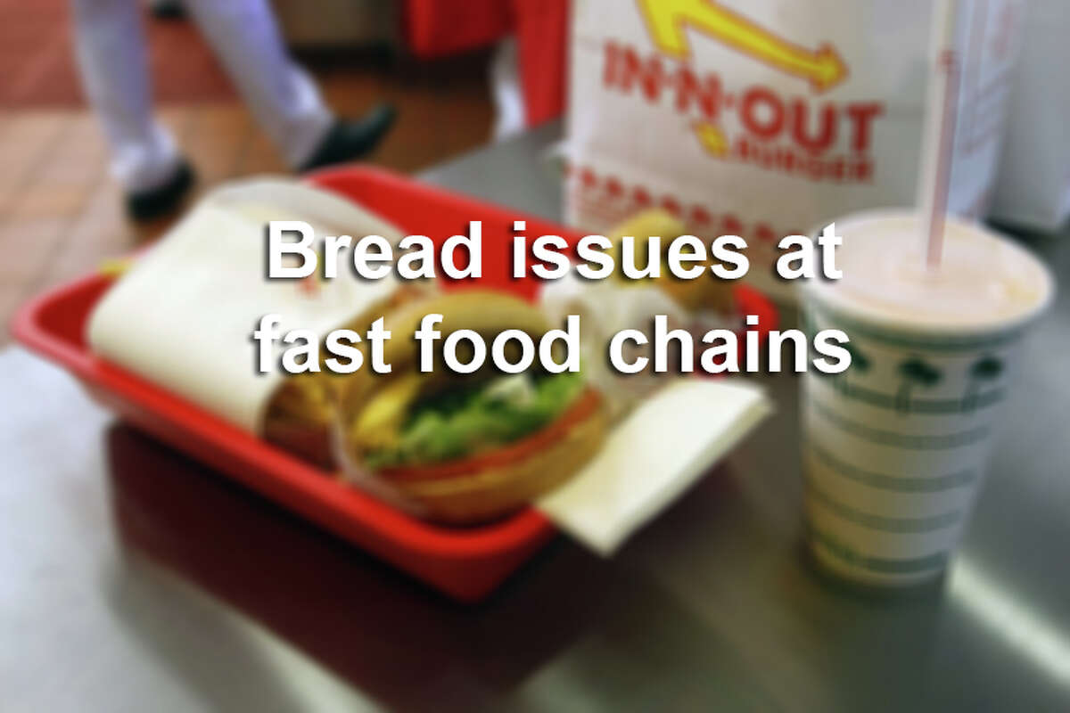 From mice in burger buns to quality control issues, several fast food chains with locations in Texas have had problems with bread. Click ahead to find out more.