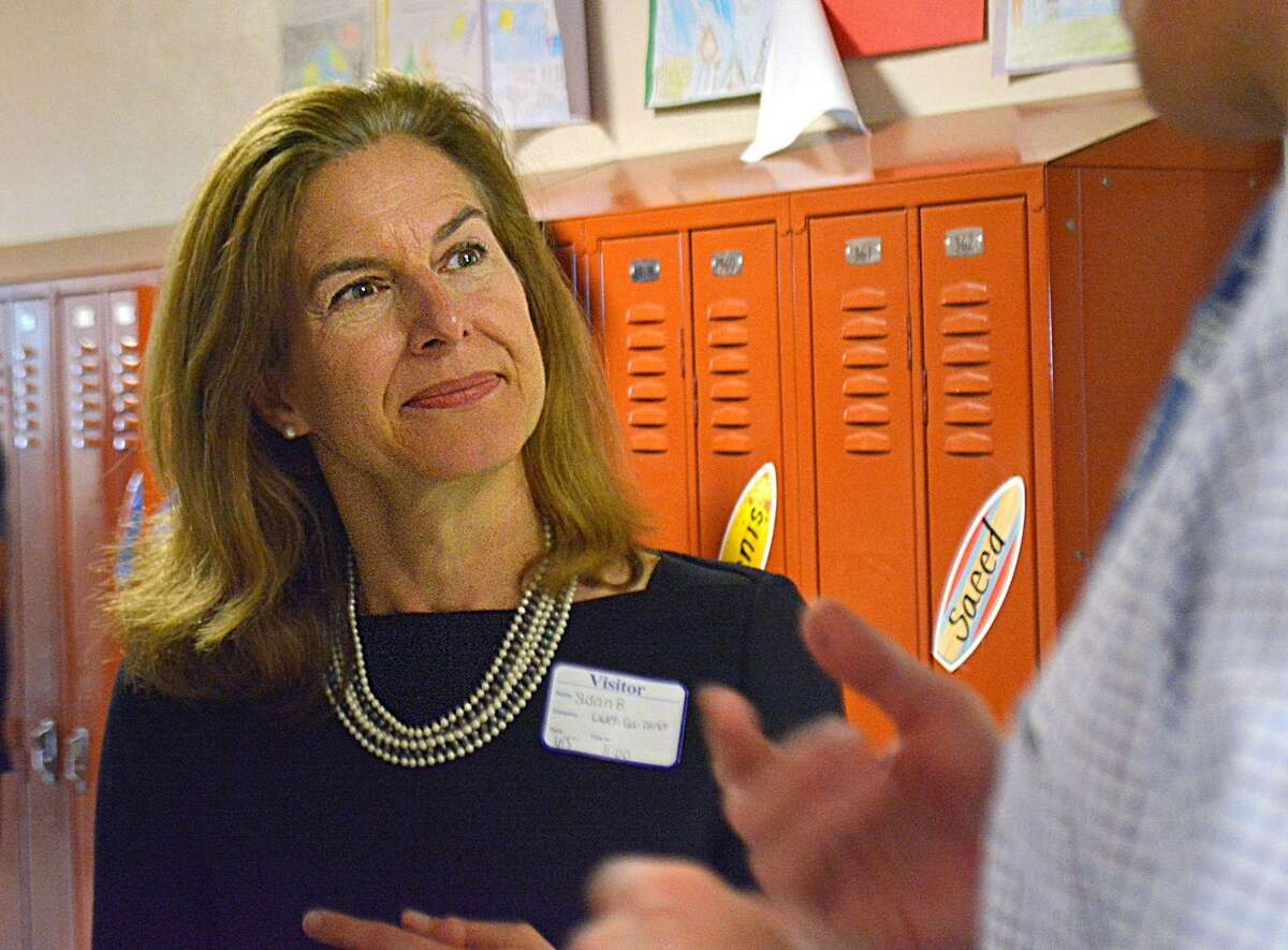 Susan Bysiewicz, Democratic candidate for lieutenant governor at Macdonough Elementary School in Middletown, Conn. Bysiewicz picked up an endorsement for her bid from Attorney General George Jepsen.