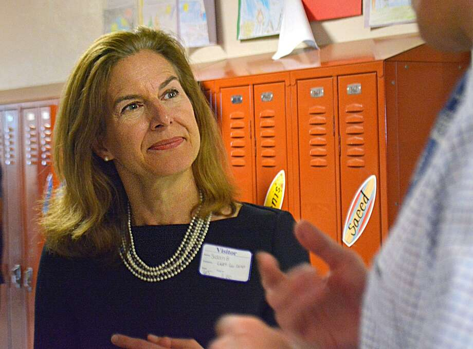 Susan Bysiewicz, Democratic candidate for lieutenant governor at Macdonough Elementary School in Middletown, Conn. Bysiewicz picked up an endorsement for her bid from Attorney General George Jepsen. Photo: Cassandra Day / Hearst Connecticut Media