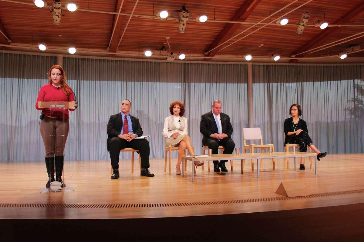 From left - Dylan Farrow, Rod Khattabi, Donna Palomba, Neil O'Leary and Hadar Lubin