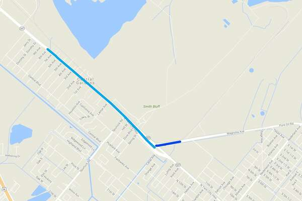 TxDOT is reporting water on Texas 347 (Twin City Highway) from Central Gardens in Nederland to Magnolia Ave. in Port Neches.   Photo: DriveTexas.org