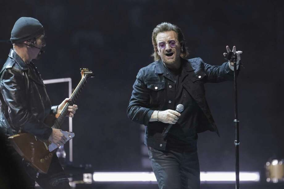 Guitarist The Edge, left, and singer Bono perform in Washington last week. Photo: Brent N. Clarke / Invision/AP / 2018 Invision