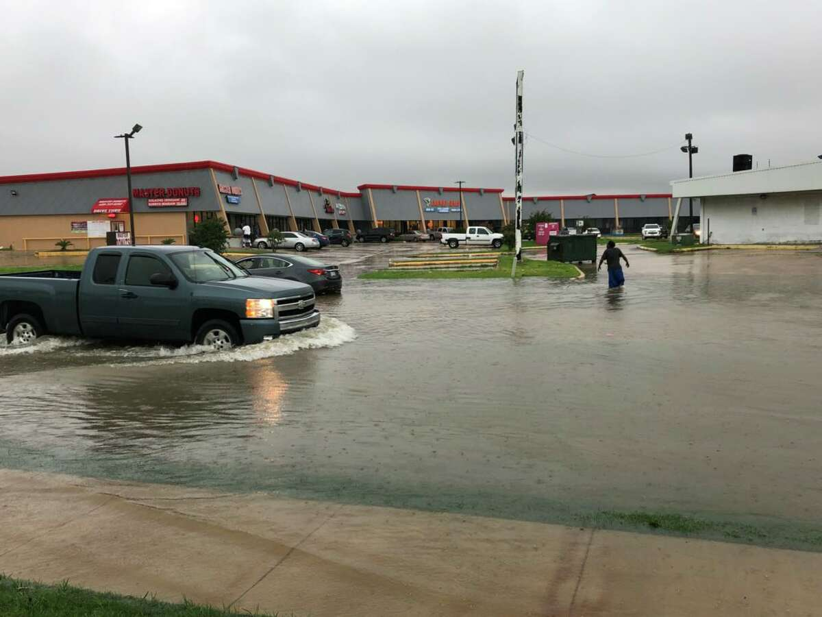 Flooding at 9th Ave and Jimmy Johnson Blvd in Port Arthur June 19, 2018. Photo: Phoebe Suy/The Enterprise