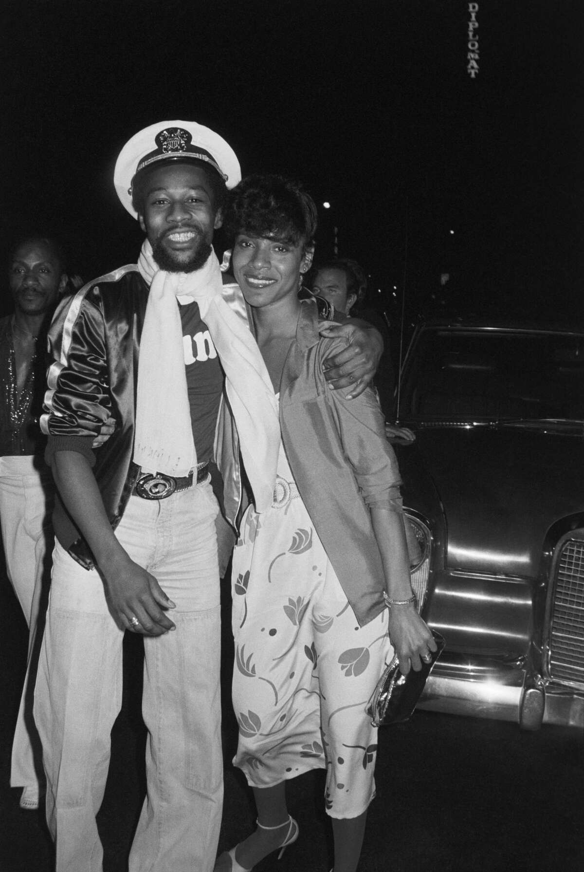 1980:Victor Willis, lead singer and co-songwriter for the original line up of American disco group Village People, with his first wife, actress Phylicia Allen-Willis (Rashad).