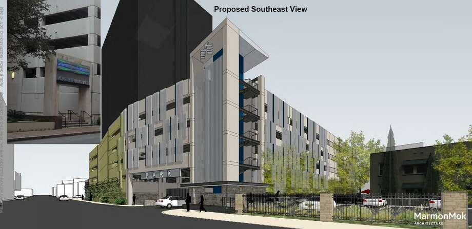 USAA would normally have to pay $1.2 million to buy a small street from the city in order to build a parking garage, but the city wouldn't charge anything under a deal City Council will consider Thursday. Photo: Historic And Design Review Commission