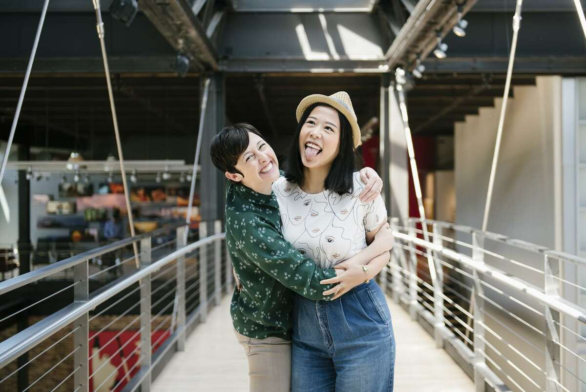 """Above: """"Bao"""" director Domee Shi (right) and producer Becky Neiman-Cobb at Pixar in Emeryville."""