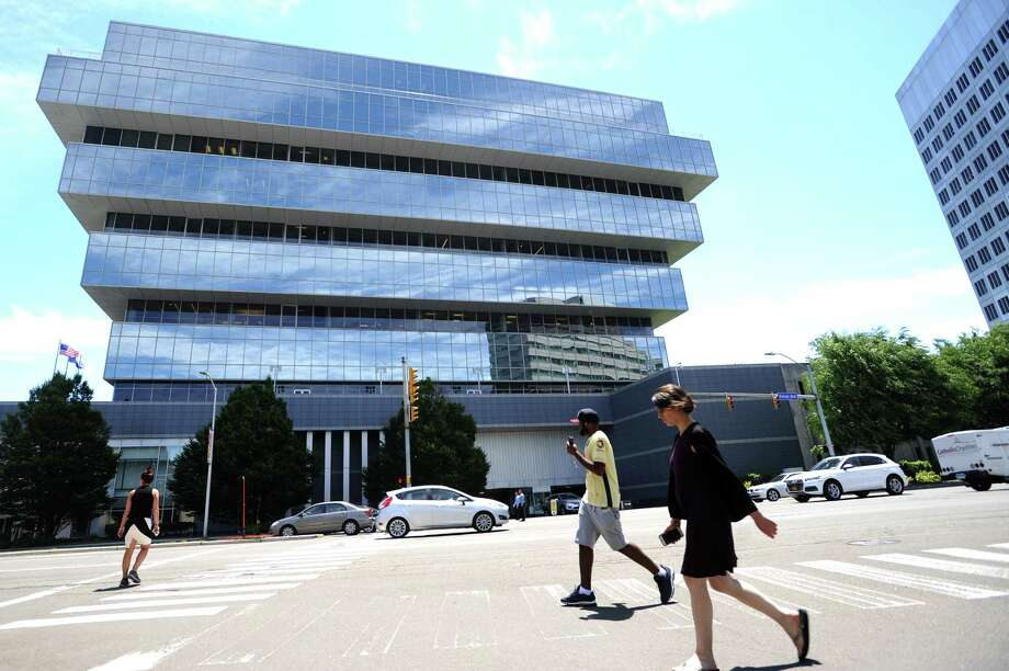 The Purdue Pharma headquarters on Tresser Blvd. in downtown Stamford, Conn. on Tuesday, June 19, 2018. Purdue recently announced more layoffs as it moves away from opioids, namely OxyContin, and increases focus on new cancer and nervous-system disorder drugs. Photo: Michael Cummo, Hearst Connecticut Media / Stamford Advocate
