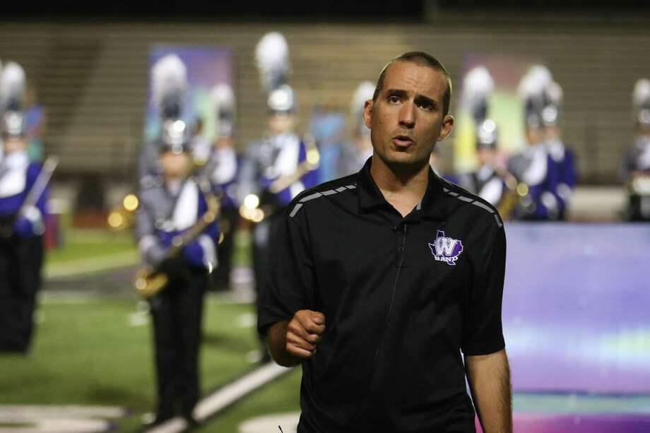 Willis Director of Bands Chris Allen speaks during the UIL State Marching Championship send off on Sunday, Nov. 5, 2017, at Berton A. Yates Stadium in Willis. Photo: Michael Minasi, Staff Photographer / Houston Chronicle / © 2017 Houston Chronicle