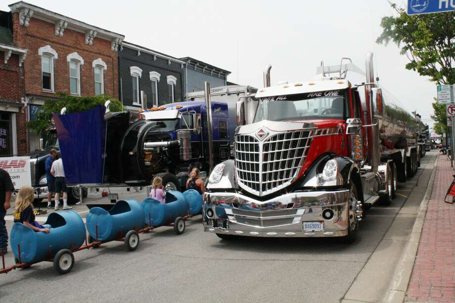Dozens of trucks lined the main intersection in Harbor Beach on Saturday. Semis, pickups, and a variety of other vehicles were on display at the sixth annual Harbor Beach Truck Show. Photo: Rich Harp/For The Tribune