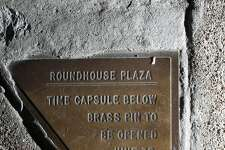Helen Goldsmith started noticing this little plaque on the corner sidewalk next to 1500 Sansome Street three years ago while taking  neighborhood walks that can be seen on Wednesday, June 13, 2018 in San Francisco, Calif.