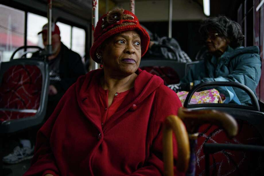 Delores Gilmore, 72, takes the metro transit bus, in Nashville, Tenn., March 6, 2018. In communities across the country, the billionaire conservative Koch brothers are waging a sophisticated fight against new rail projects and bus routes. Gilmore has been riding the bus over 50 years and is excited for the mass transit system proposed on the May 1, 2018 ballot. Photo: WILLIAM DESHAZER /NYT / NYTNS