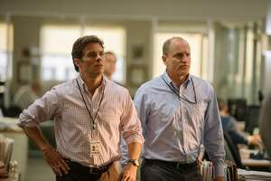 """James Marsden Woody Harrelson play reporters in """"Shock and Awe""""    photos courtesy of Vertical Entertainment          AWE_1507.NEF"""
