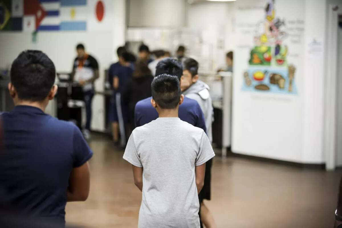 Government handout photos of life inside Casa Padre, a migrant youth interment center in Brownsville, Texas.