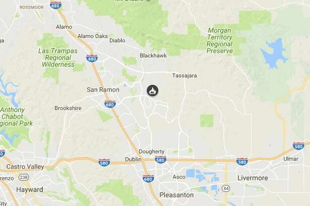 A wildfire burned40 acres off Montbretia Way and Ironwood, East of San Ramon in Contra Costa County on Tuesday.