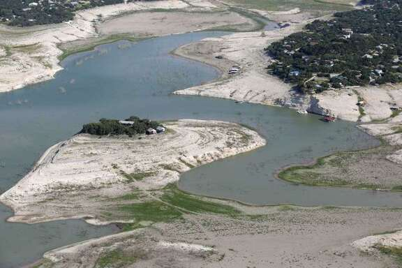 Drought conditions in 2013 took their toll on Medina Lake.