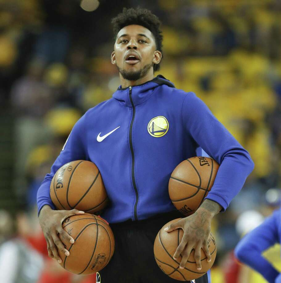 Golden State Warriors' Nick Young is during warmups before game 6 of the Western Conference Finals between the Golden State Warriors and the Houston Rockets at Oracle Arena on Saturday, May 26, 2018 in Oakland, Calif. Photo: Scott Strazzante / The Chronicle / online_yes