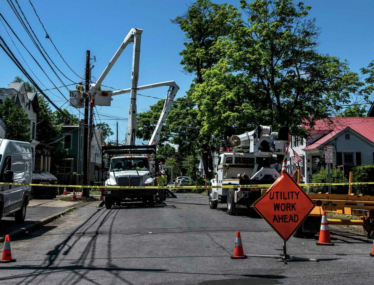 Damage was evident throughout Saratoga Springs after a storm on Tuesday, June 19, 2018. (Skip Dickstein/Times Union)