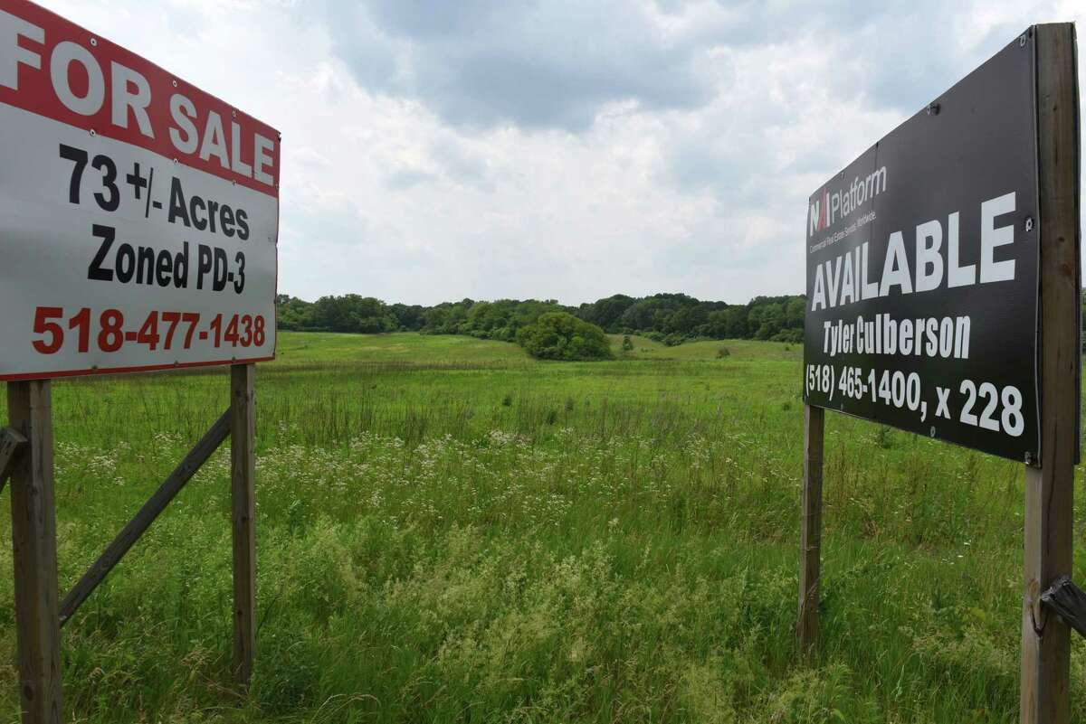 Vacant land off Route 9 that is slated for a proposed warehouses on Monday, June 18, 2018, in Schodack, N.Y. (Will Waldron/Times Union)