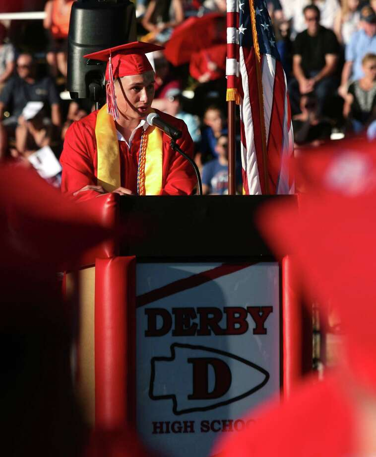 Derby High School's 142nd Commencement in Derby, Conn., on Tuesday, June 19, 2018. Photo: Christian Abraham, Hearst Connecticut Media / Connecticut Post