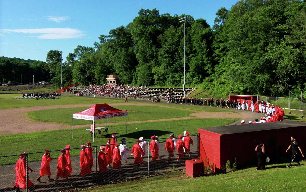 Derby High School's 142nd Commencement in Derby, Conn., on Tuesday, June 19, 2018.