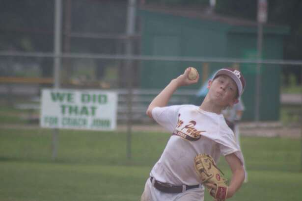 Deer Park Bronco all-star Christian Tyson collected a strikeout on this pitch during the team's championship game on Sunday with Conroe Gold.