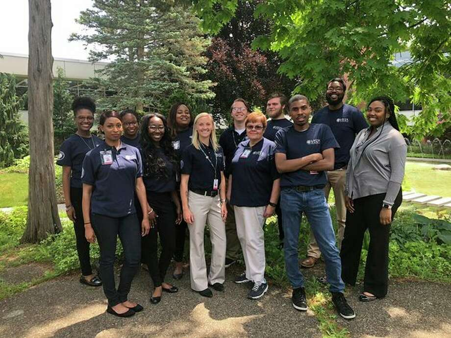 Delta College VISTA workers, from left: MaKenzie Smith, Amanda Jordan, Tatiyana Tivis, QueShyra Mason, Bria Smith, Kristina Sandoval, Christopher Wesolowski, Virginia Heighes, Jacob Rechsteiner, Dwight Peters, Dominique Baldwin, Theresa Stephens. Not pictured: Jordan Duletzke, Herman Sims. (Photo provided)