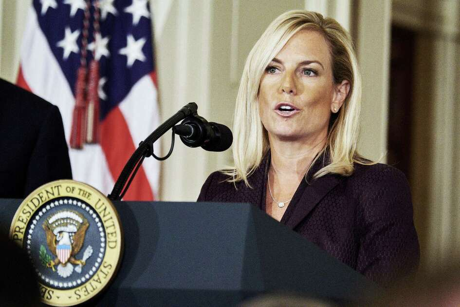Kirstjen Nielsen at the White House in Washington on Oct. 12, 2017.