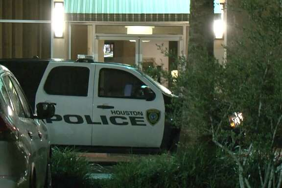 Houston police are searching for four men who are accused of firing shots at a security guard while attempting to steal an ATM at a northwest Houston hotel, on Wednesday, June 20, 2018.