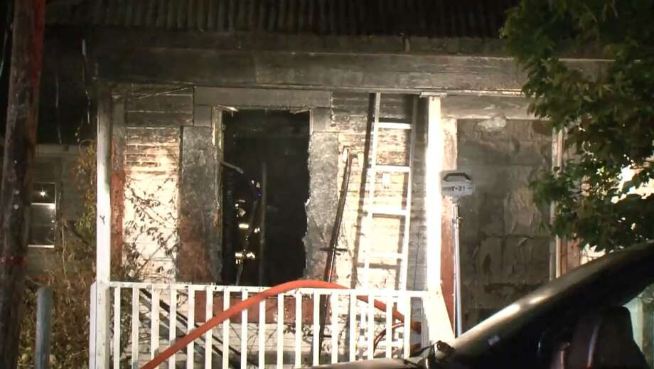 Houston firefighters extinguished a fire at an unoccupied house in the Third Ward, on Tuesday night, June 19, 2018. Photo: Metro Video