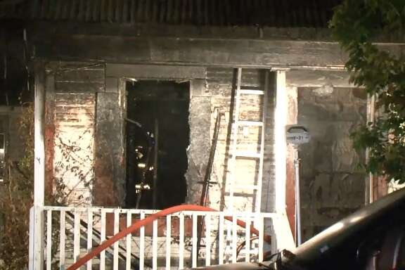 Houston firefighters extinguished a fire at an unoccupied house in the Third Ward, on Tuesday night, June 19, 2018.