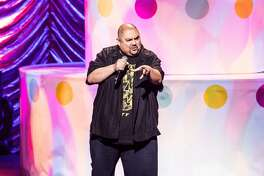 """LOS ANGELES, CA - MARCH 31:  Gabriel Iglesias performs during KROQ's """"Kevin & Bean's April Foolishness"""" at Microsoft Theater on March 31, 2018 in Los Angeles, California.  (Photo by Timothy Norris/Getty Images)"""