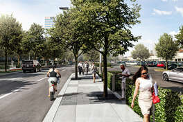 The Boulevard; Sidewalk Rendering Courtesy of Uptown  Houston