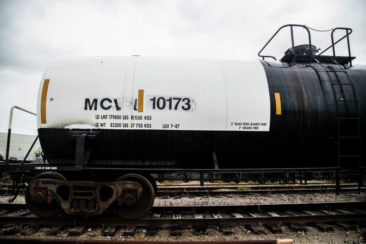 Chlorine railcar at the