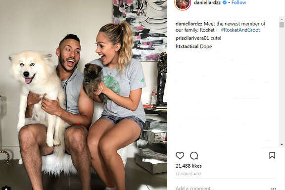 Carlos Correa and his fiancee Daniella Rodriguez added a dog to their family.
