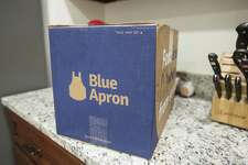 BOSTON, MA - JUNE 28: In this photo illustration, a Blue Apron box waits to be opened on a kitchen counter on June 28, 2017 in Boston, Massachusetts. The online meal-kit delivery company is going public and has lowered their upcoming IPO price range from $15 to $17 a share to $10 to $11 a share.  (Photo by Scott Eisen/Getty Images)