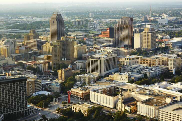 City skyline of San Antonio, San Antonio, America. (Photo by: Loop Images/UIG via Getty Images)