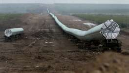 A 42-inch natural gas pipeline being installed near Alpine, Texas in 2016. Pipelines are at the center of a debate in Washington about the future of the power grid, as Energy Secretary Rick Perry argues that an increasingly sophisticated cybersecurity threat makes relying on natural gas to the exclusion of coal and nuclear plants a disaster waiting to happen. That has set the administration and Perry in direct conflict with natural gas producers, many of whom believe the administration is raising the issue of cybersecurity of gas pipelines to justify bailing out a coal sector that President Donald Trump has promised to revive.