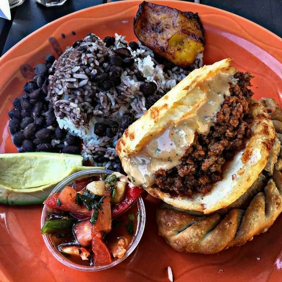 "A plate with ""the works"" at Valencia Luncheria in Norwalk Photo: Contributed Photo"