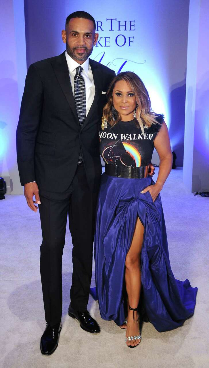 Chairs Tamia and Grant Hill at the For the Sake of Art 2018, Fifth Biennial Wearable Art Competition benefiting TSU's University Museum at the Hilton Americas Hotel Saturday June 09,2018.(Dave Rossman photo)