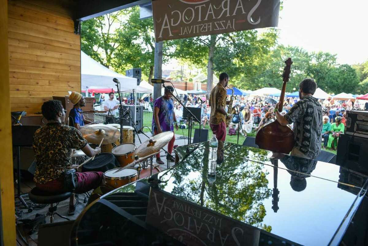 """the new Charles R. Wood """"Jazz Discovery"""" Stage, photo credit: Explore Saratoga."""