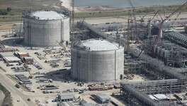 Construction continues at the Cheniere Liquid Natural Gas plant in Portland, Texas, Tuesday, Aug. 8, 2017. Analysts say China can't afford to jeopardize shipments of U.S. natural gas and is unlikely to place tariffs on LNG.