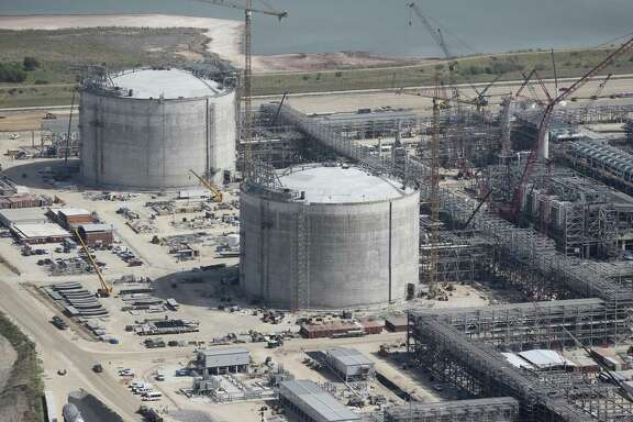 Construction continues at the Cheniere Liquid Natural Gas plant in Portland, Texas, Tuesday, Aug. 8, 2017. Speaking at the Dominion Energy Cove Point LNG terminal in coastal Maryland, which began operations in January, Energy Secretary Rick Perry said the agreement between President Donald Trump and European Commissioner Jean Claude Juncker has set the stage to increase U.S. LNG exports to Europe.
