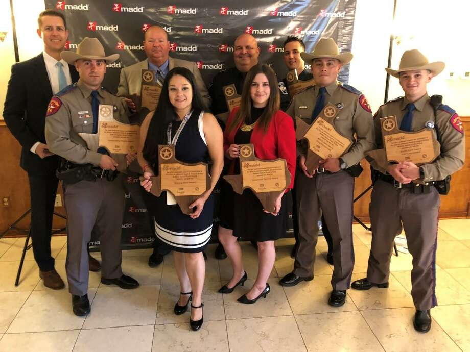ADA Andrew James, Trooper Bruno Miauro, Assistant Chief John Stephenson, Melody Pena, Pct. 3 Chief Deputy Matthew Rodrigue, ADA Brittany Litaker, Pct. 3 Deputy Patrick Patterson, Trooper Christopher Janis, Trooper Benjamin Polansky. Photo: MCDAO