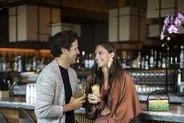 Ben Stocker and Rachel Hutchinson at the sushi restaurant Nobu.